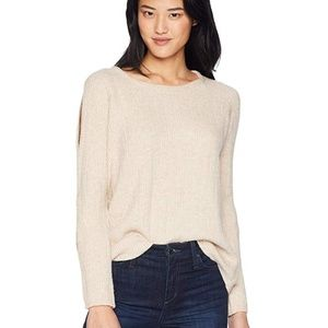 NWT BB Dakota Cold Shoulder Sweater Sand Large